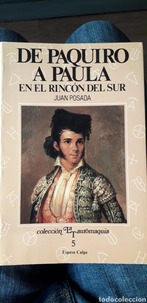 DE PAQUIRO A PAULA. TOMO 5. ESPASA CALPE (Libros de Segunda Mano - Bellas artes, ocio y coleccionismo - Otros)