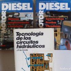 Libros de segunda mano: TECNOLOGÍA CIRCUITOS HIDRÁULICOS + 2 TOMOS MOTOR DIESEL BIBLIOTECA AUTOMOVIL CEAC. Lote 224969840