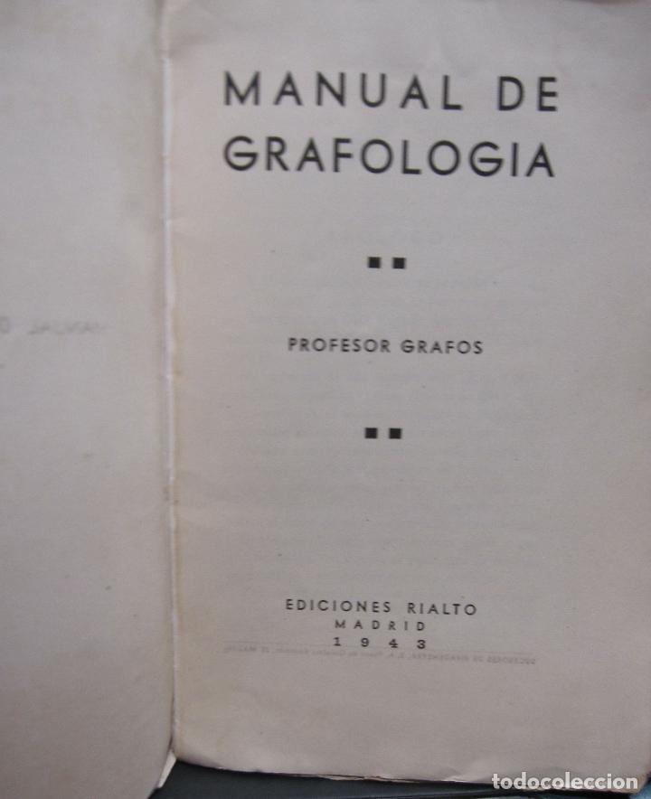 Libros de segunda mano: DOCTOR GRAFOS MANUAL DE GRAFOLOGIA. Ediciones Rialto, Madrid, 1943. 141 PAGINAS. 22,5X14 CM - Foto 2 - 225085880