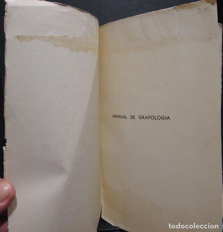 Libros de segunda mano: DOCTOR GRAFOS MANUAL DE GRAFOLOGIA. Ediciones Rialto, Madrid, 1943. 141 PAGINAS. 22,5X14 CM - Foto 3 - 225085880