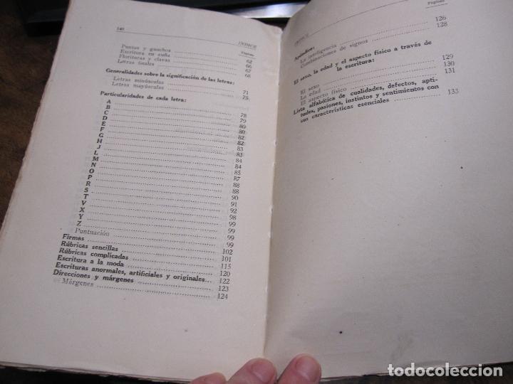 Libros de segunda mano: DOCTOR GRAFOS MANUAL DE GRAFOLOGIA. Ediciones Rialto, Madrid, 1943. 141 PAGINAS. 22,5X14 CM - Foto 7 - 225085880