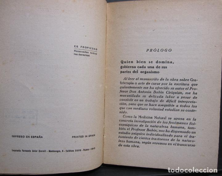 Libros de segunda mano: A. BOBIN CIRIQUIAN. CURACIÓN POR LA ESCRITURA (AUTOGRAFOTERAPIA). BARCELONA, 1949 - Foto 3 - 225086891
