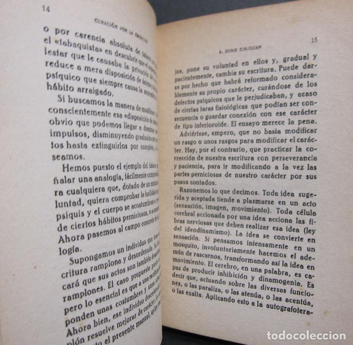 Libros de segunda mano: A. BOBIN CIRIQUIAN. CURACIÓN POR LA ESCRITURA (AUTOGRAFOTERAPIA). BARCELONA, 1949 - Foto 6 - 225086891