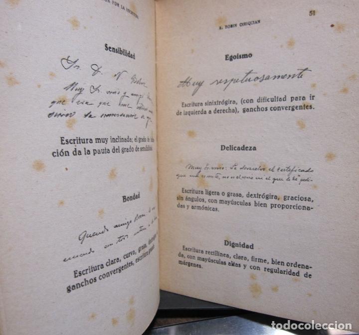 Libros de segunda mano: A. BOBIN CIRIQUIAN. CURACIÓN POR LA ESCRITURA (AUTOGRAFOTERAPIA). BARCELONA, 1949 - Foto 7 - 225086891