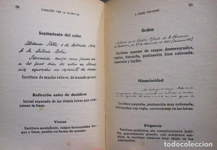 Libros de segunda mano: A. BOBIN CIRIQUIAN. CURACIÓN POR LA ESCRITURA (AUTOGRAFOTERAPIA). BARCELONA, 1949 - Foto 9 - 225086891