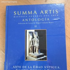 Livros em segunda mão: SUMMA ARTIS ANTOLOGIA II, ARTE DE LA EDAD ANTIGUA, EGIPTO, GRECIA Y ROMA. Lote 225134920