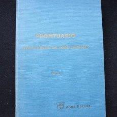 Libros de segunda mano: PRONTUARIO PARA EL EMPLEO DEL ACERO LAMINADO. TOMO 1 AHV. BILBAO 1970. Lote 225139385