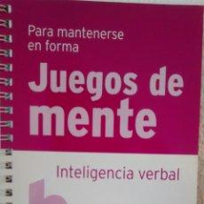 Libros de segunda mano: JUEGOS DE MENTE. INTELIGENCIA VERBAL (RBA). Lote 225237766