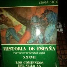 Libri di seconda mano: HISTORIA DE ESPAÑA MENENDEZ PIDAL TOMO XXXVII COMIENZO DEL SIGLO XX. Lote 225356390