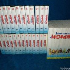 Libros de segunda mano: COLECCIÓN COMPLETA DE ERASE UNA VEZ EL HOMBRE, (26 LIBROS +26 VHS). Lote 225477180