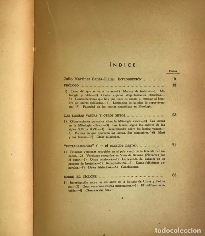 Libros de segunda mano: ALGUNOS MITOS ESPAÑOLES. - CARO BAROJA, Julio. - Foto 5 - 123171736