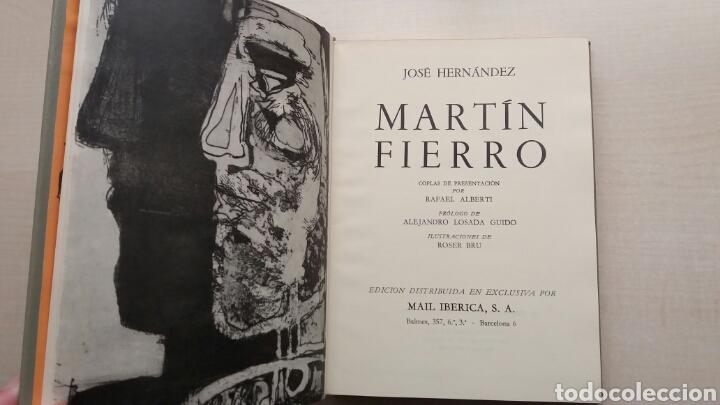 Libros de segunda mano: Martín Fierro. José Hernández. NAUTA, biblioteca de los grandes clásicos, 1969. - Foto 8 - 225986803