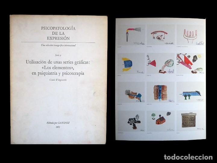 PSICOPATOLOGÍA DE LA EXPRESIÓN. SERIE 9. UTILIZACIÓN DE UNAS SERIES GRÁFICAS.... SANDOZ 1965 (Libros de Segunda Mano - Bellas artes, ocio y coleccionismo - Otros)