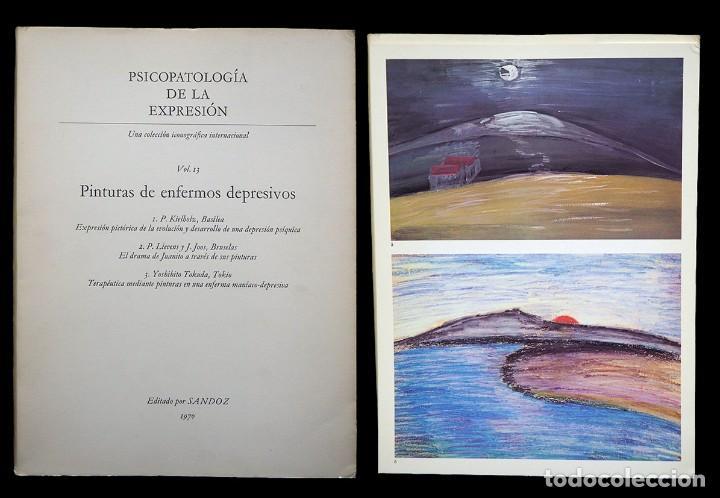 PSICOPATOLOGÍA DE LA EXPRESIÓN. VOLUMEN 13. PINTURAS DE ENFERMOS DEPRESIVOS. SANDOZ 1970 (Libros de Segunda Mano - Bellas artes, ocio y coleccionismo - Otros)