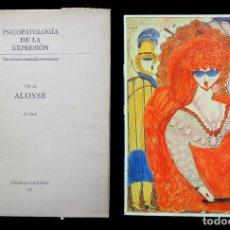 Libros de segunda mano: PSICOPATOLOGÍA DE LA EXPRESIÓN. VOLUMEN 22. ALOYSE. SANDOZ 1975. Lote 226260965