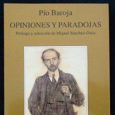 Livros em segunda mão: OPINIONES Y PARADOJAS - PÍO BAROJA - TUSQUETS (MARGINALES) 2000. Lote 226336400