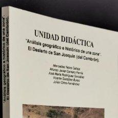 """Livros em segunda mão: ANÁLISIS GEOGRÁFICO E HISTÓRICO DE UNA ZONA"""": EL DESIERTO DE SAN JOAQUÍN (DEL CAMBRÓN). Lote 226587460"""