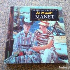 Libros de segunda mano: THE LIFE AND WORKS OF MANET -- NATHANIEL HARRIS -- PARRAGON 1994 -- TEXTO EN INGLES --. Lote 226807360