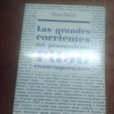 Libros de segunda mano: LAS GRANDES CORRIENTES DEL PENSAMIENTO RUSO CONTEMPORÁNEO. P. PASCAL. ENCUENTRO, 1978.. Lote 226886450