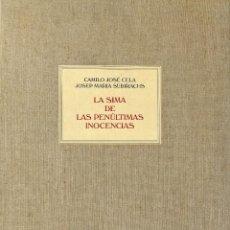 Libros de segunda mano: LA SIMA DE LAS PENÚLTIMAS INOCENCIAS. Lote 226901749