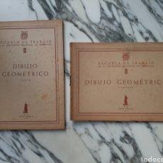 Libros de segunda mano: DIBUJO GEOMÉTRICO - TEXTO Y LÁMINAS - ESCUELA DE TRABAJO DE LA DIP. PROV. DE BARCELONA - 1957. Lote 227137064