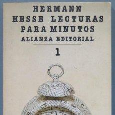 Libros de segunda mano: LECTURAS PARA DIEZ MINUTOS. HESSE. 1. Lote 227269330