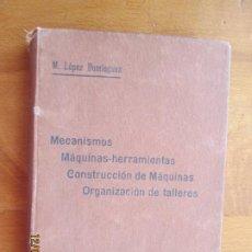 Libros de segunda mano: ATLAS MECANISMOS , MAQUINAS HERRAMIENTAS , M LOPEZ DOMINGUEZ -1912- LIBRERIA TOMAS SANZ. Lote 228552490