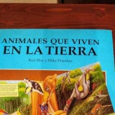 """Libros de segunda mano: LIBRO DESPLEGABLE """"ANIMALES QUE VIVEN EN LA TIERRA. 3D. Lote 228819665"""