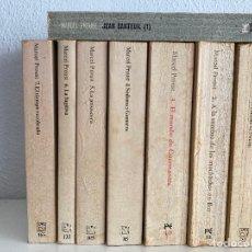 Libros de segunda mano: EN BUSCA DEL TIEMPO PERDIDO, COMPLETA 7 TOMOS + REGALO BIOGRAFIA I - MARCEL PROUST - ALIANZA - GCH1. Lote 229496835