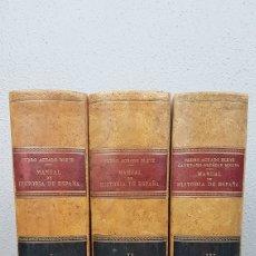 Libros de segunda mano: MANUAL DE HISTORIA DE ESPAÑA COMPLETA 3 TOMOS PEDRO AGUADO BLEYE 1954. SEPTIMA EDICIÓN, REFUNDIDA . Lote 229761140