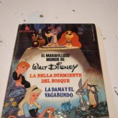 Libros de segunda mano: G-59 LIBRO WALT DISNEY MARAVILLOSO MUNDO / BELLA DURMIENTE / DAMA Y EL VAGABUNDO ESTADO REGULAR. Lote 229766940