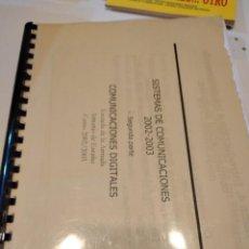 Libros de segunda mano: G-59 LIBRO SISTEMA DE COMUNICACIONES 2002 2003. Lote 229768775