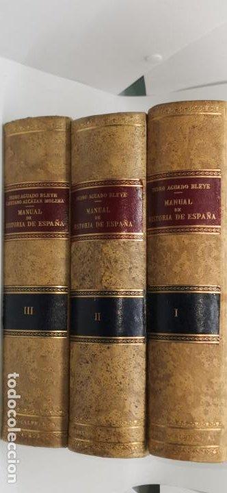 PEDRO AGUADO BLEYE MANUAL DE HISTORIA DE ESPAÑA (Libros de Segunda Mano - Historia - Otros)