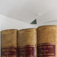 Libros de segunda mano: PEDRO AGUADO BLEYE MANUAL DE HISTORIA DE ESPAÑA. Lote 229852390