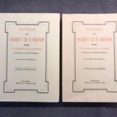 Libros de segunda mano: NOTICIAS DE SEGORBE Y SU OBISPADO, FACSIMIL (A.1890) OBRA COMPLETA (2) VOLÚM. (A.1975). Lote 230310700