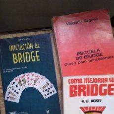 Libros de segunda mano: LIBROS SOBRE BRIDGE TRES LIBOS. Lote 230380575