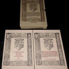 Libros de segunda mano: X43 - LAS OBRAS DE AUSIAS MARCH. TRADUCIDAS POR BALTASAR DE ROMANI. 2 TOMOS EN ESTUCHE.. Lote 230466800