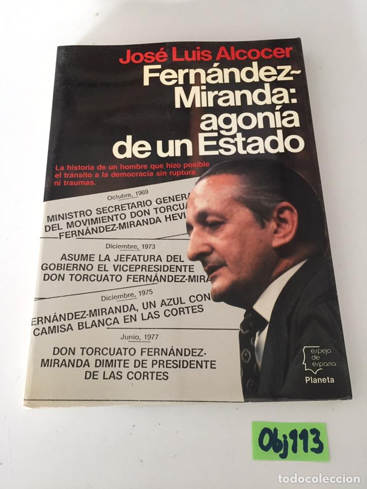 FERNANDO MIRANDA AGONÍA DE UN ESTADO (Libros de Segunda Mano - Pensamiento - Otros)