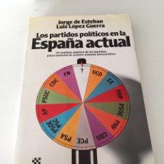 Libros de segunda mano: LOS PARTIDOS POLÍTICOS EN LA ESPAÑA ACTUAL. Lote 230504700