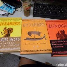 Libros de segunda mano: TRILOGIA ALEXANDROS VALERIO MASSIMO MANFREDI 1A EDICION. Lote 230509495