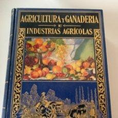 Libros de segunda mano: AGRICULTURA Y GANADERÍA E INDUSTRIAS AGRÍCOLAS. Lote 230550340