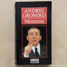 Libros de segunda mano: MEMORIAS - ANDREI GROMIKO. Lote 230695575