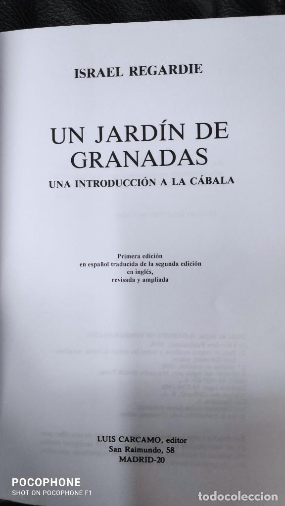 Libros de segunda mano: UN JARDIN DE GRANADAS UNA INTRODUCCION A LA CABALA ( ISRAEL REGARDIE ) - Foto 4 - 231377270