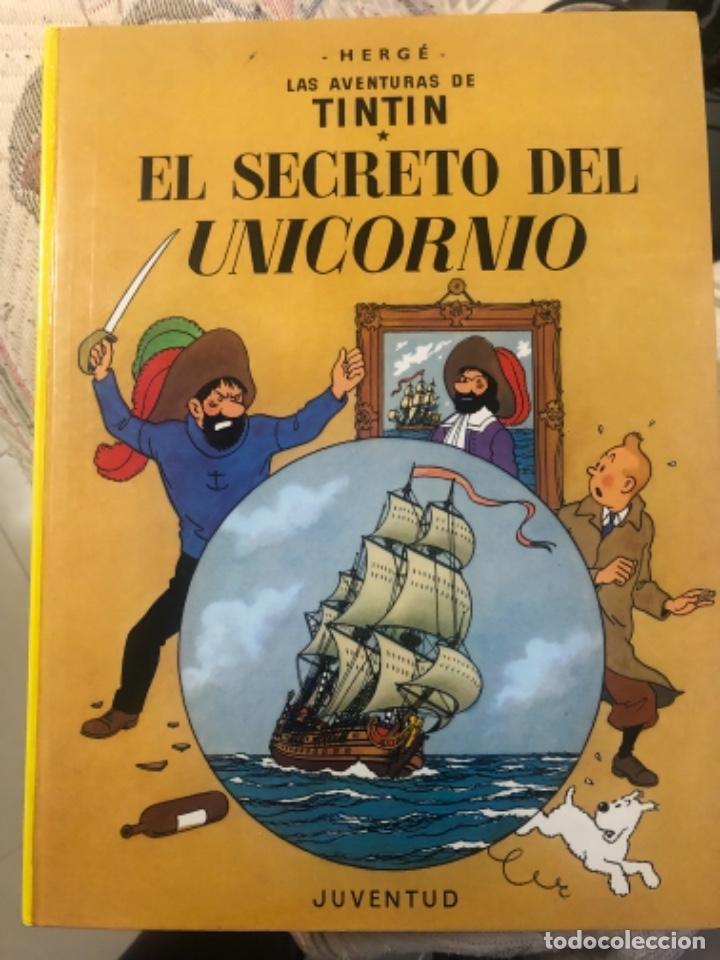 LIBRO DE TINTÍN EL SECRETO DEL UNICORNIO Y TINTÍN EL TESORO DE RACKHAN EL ROJO (Libros de Segunda Mano - Literatura Infantil y Juvenil - Otros)