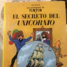 Libros de segunda mano: LIBRO DE TINTÍN EL SECRETO DEL UNICORNIO Y TINTÍN EL TESORO DE RACKHAN EL ROJO. Lote 232141740