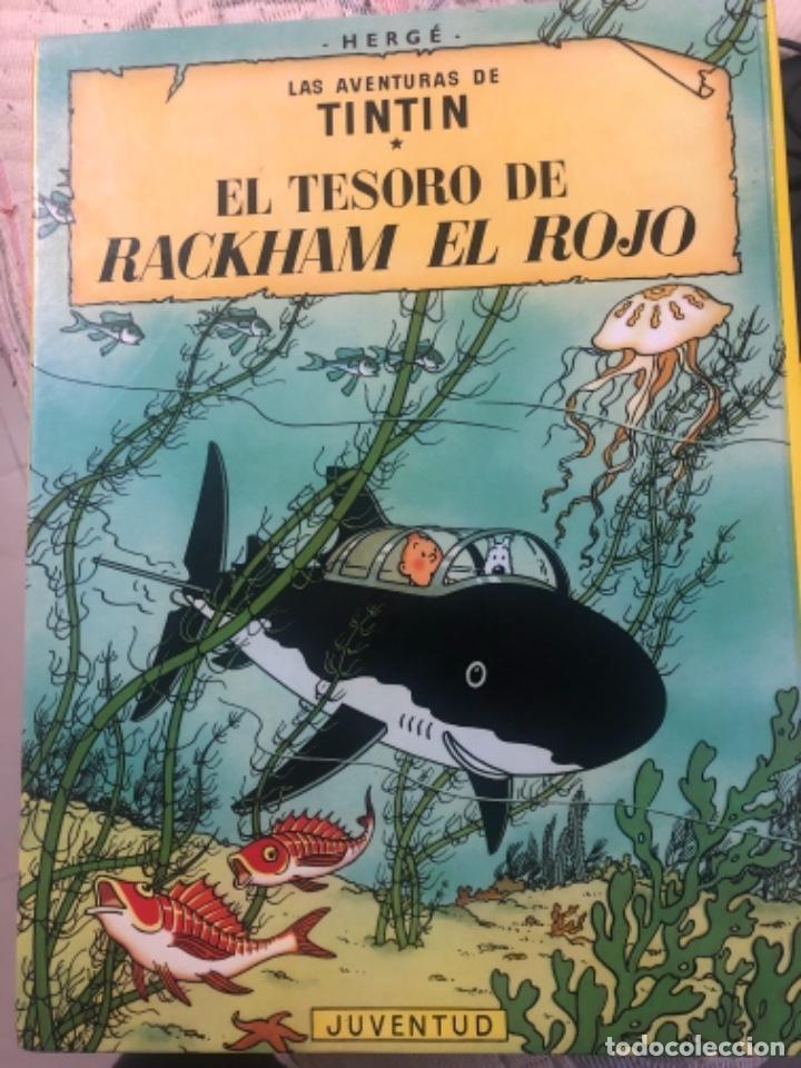 Libros de segunda mano: Libro de tintín el secreto del unicornio y tintín el tesoro de Rackhan el rojo - Foto 2 - 232141740