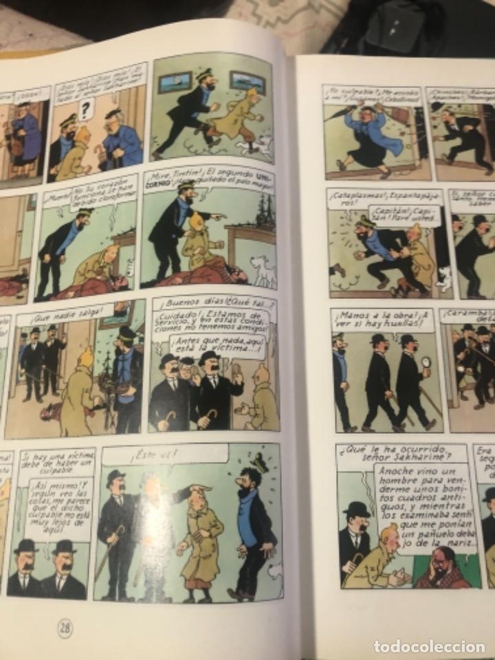 Libros de segunda mano: Libro de tintín el secreto del unicornio y tintín el tesoro de Rackhan el rojo - Foto 3 - 232141740