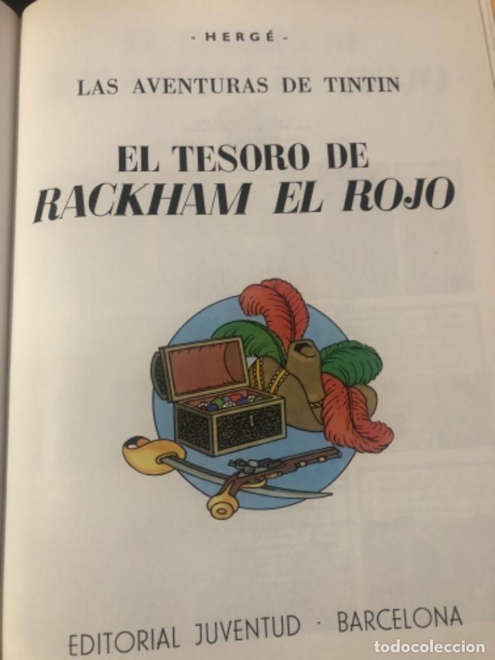 Libros de segunda mano: Libro de tintín el secreto del unicornio y tintín el tesoro de Rackhan el rojo - Foto 4 - 232141740