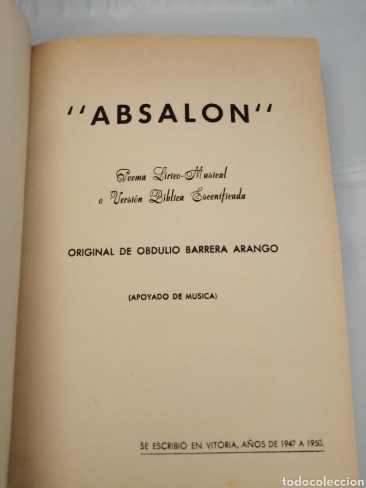 Libros de segunda mano: 4 Obras de Obdulio Barrera Arango: Absalón / Panthea / El Juramento / Trabajos y días perdidos - Foto 2 - 232286275