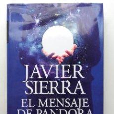 Libros de segunda mano: EL MENSAJE DE PANDORA - JAVIER SERRA - PLANETA EDITORIAL - 2020. Lote 232405515
